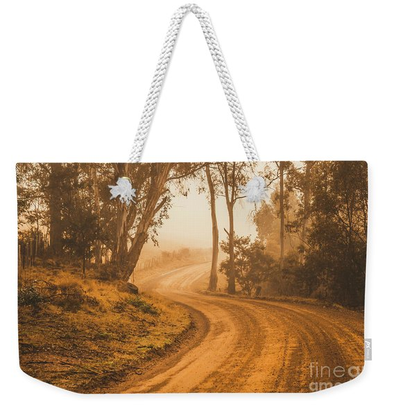 Mysterious Autumn Trail Weekender Tote Bag