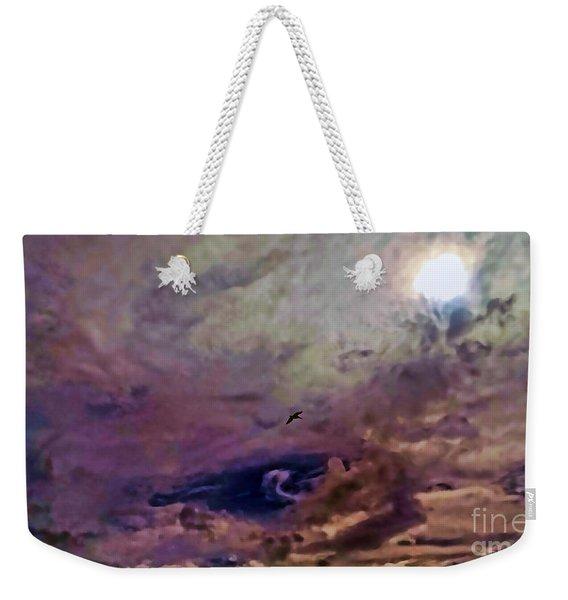 Mystery Sky Weekender Tote Bag