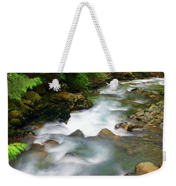 Mystic Creek Weekender Tote Bag