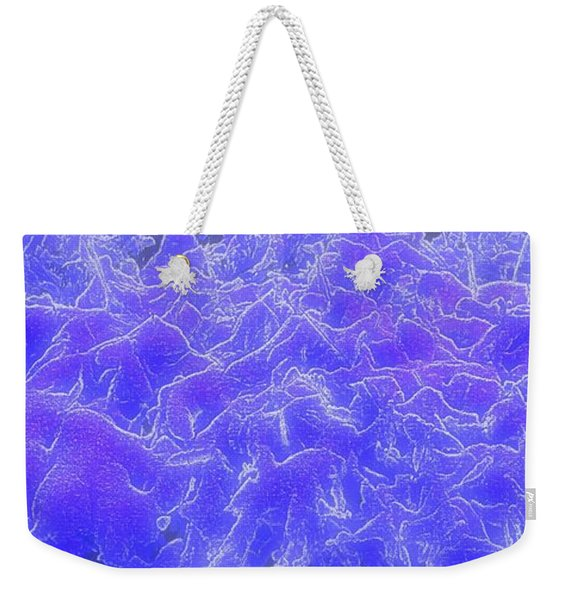 Weekender Tote Bag featuring the digital art Mystic Mountains by Michael Lucarelli