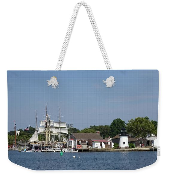 Mystic Seaport Lighthouse Weekender Tote Bag