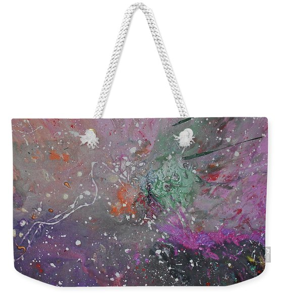 Weekender Tote Bag featuring the painting Mystical Dance by Michael Lucarelli