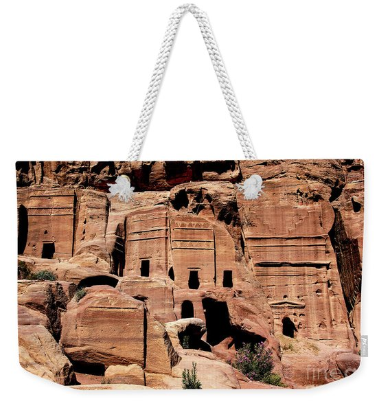 Weekender Tote Bag featuring the photograph Nabataeans' City by Mae Wertz