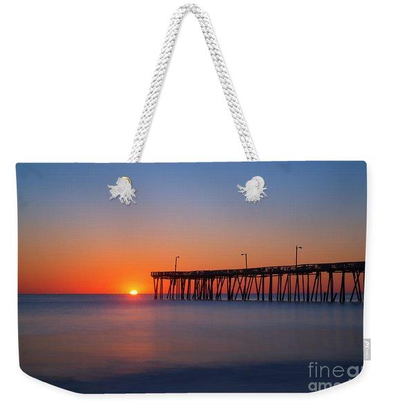 Nags Head Fishing Pier Sunrise Weekender Tote Bag