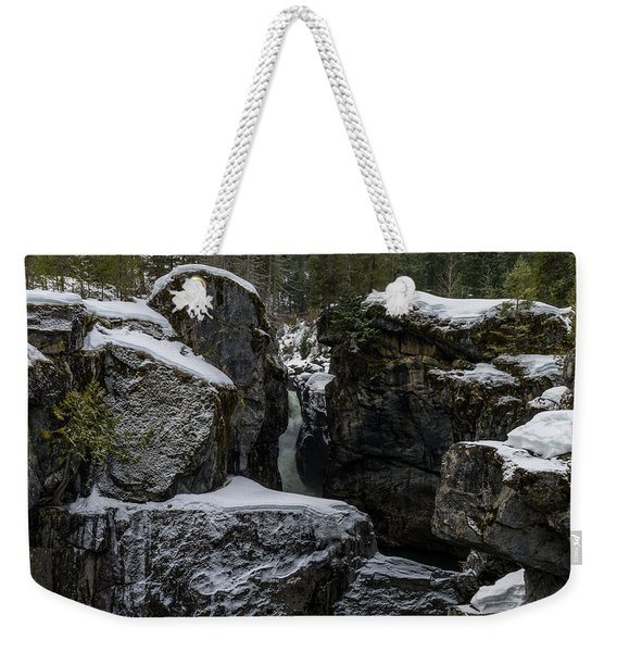 Nairn Falls, Winter Weekender Tote Bag