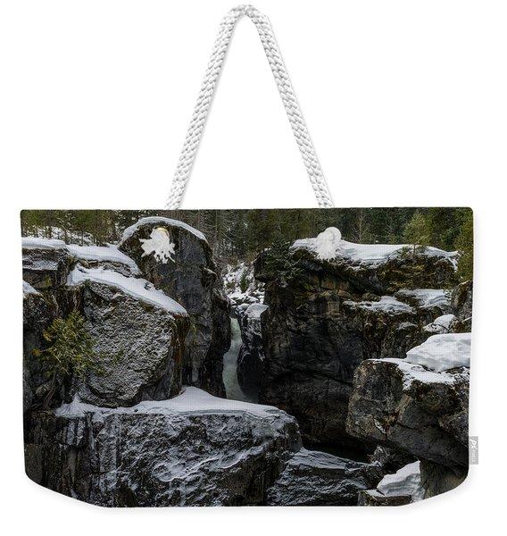 Nairn Falls, Winter Weekender Tote Bag