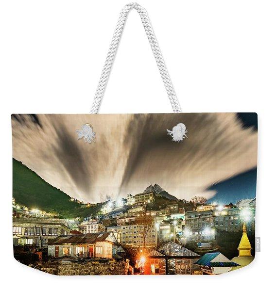 Namche Night Weekender Tote Bag