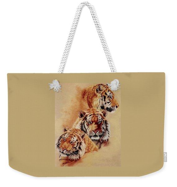 Weekender Tote Bag featuring the pastel Nanook by Barbara Keith