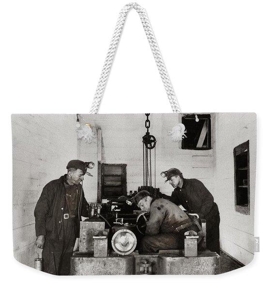 Nanticoke Pa Buttonwood Colliery Inman Shaft Glen Alden Coal Underground Motor Pit 1945 Weekender Tote Bag