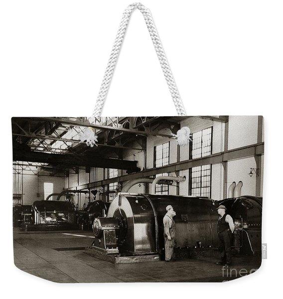 Nanticoke Pa Electrical Generators Glen Alden Mines Power Plant 1945 Weekender Tote Bag