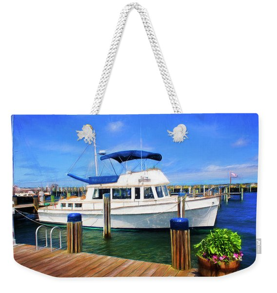 Nantucket Harbor Safe Harnor Series 52 Painted Weekender Tote Bag