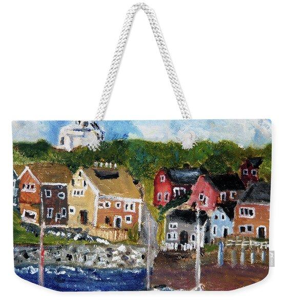 Nantucket Harbor Scene Weekender Tote Bag