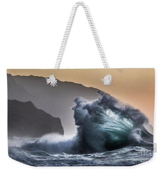 Napali Coast Hawaii Wave Explosion IIi Weekender Tote Bag