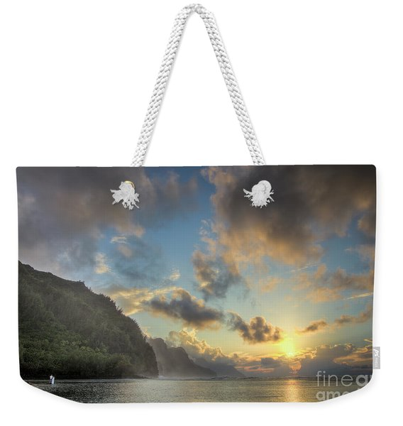 Napali Coast Sunset Kauai Weekender Tote Bag