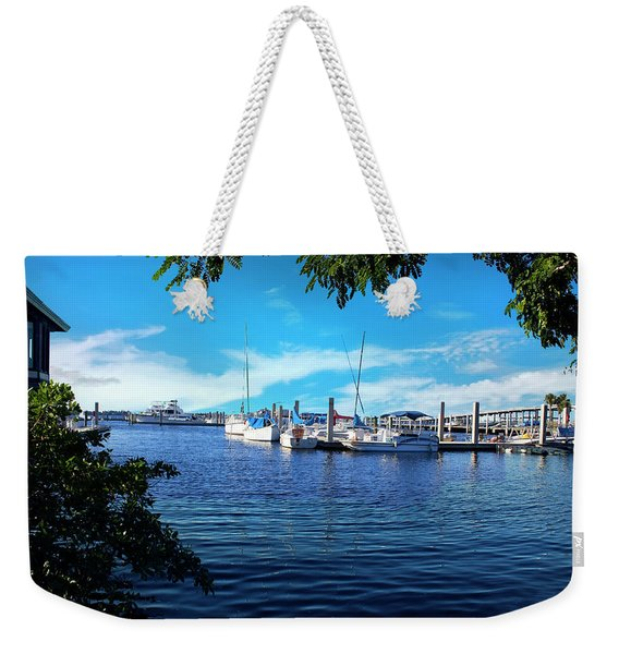 Naples Harbor Series 4054 Weekender Tote Bag