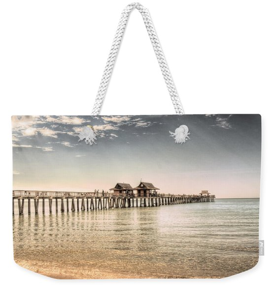 Naples Pier Weekender Tote Bag