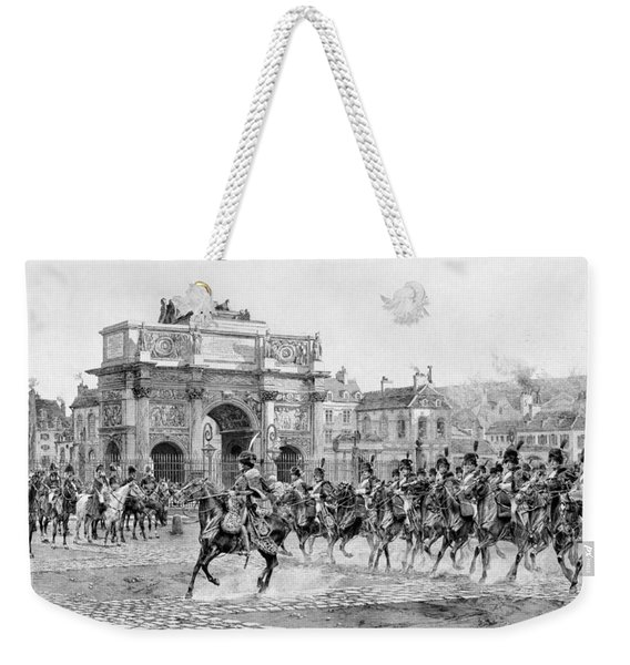 Napoleon I Reviewing His Troops  Weekender Tote Bag