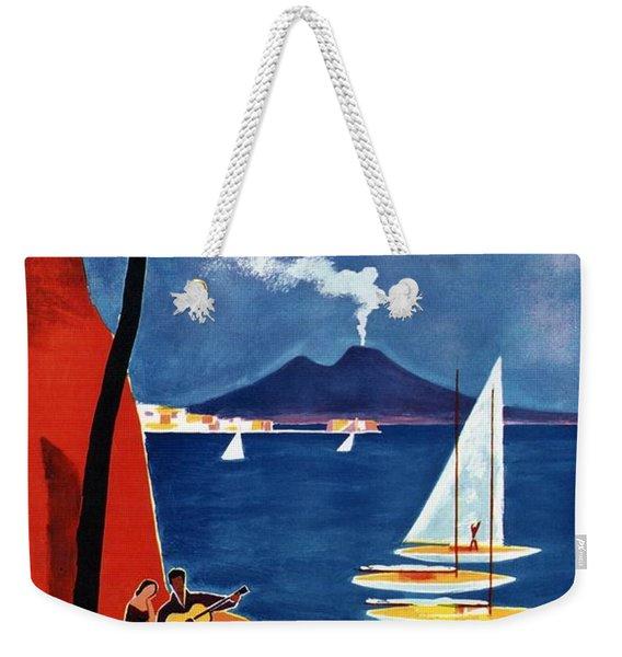 Napoli - Naples, Italy - Beach - Retro Advertising Poster - Vintage Poster Weekender Tote Bag