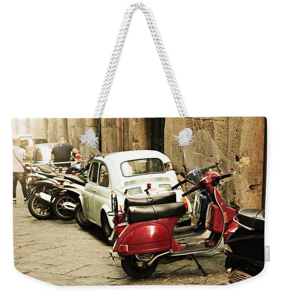 Napoli Parking Weekender Tote Bag