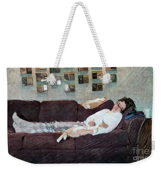 Naptime With The Boys Weekender Tote Bag