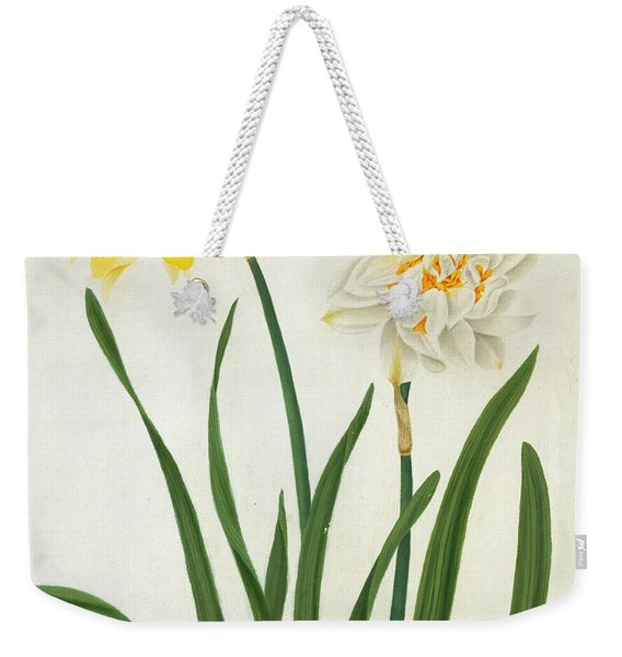 Narcissi And Butterfly Weekender Tote Bag