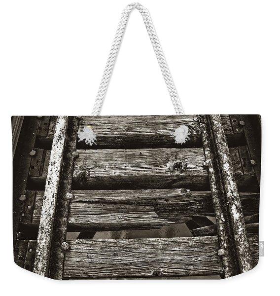Narrow Gauge Tracks #photography #art #trains Weekender Tote Bag