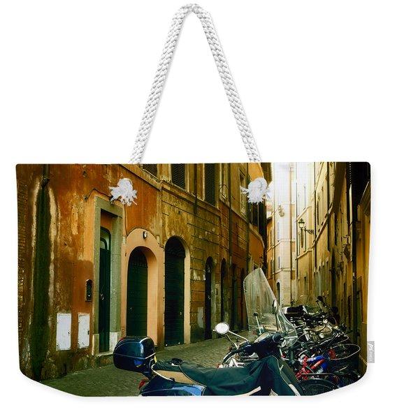 narrow streets in Rome Weekender Tote Bag