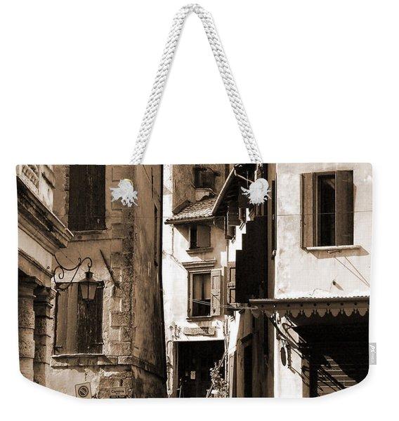 Narrow Streets Of Asolo Weekender Tote Bag
