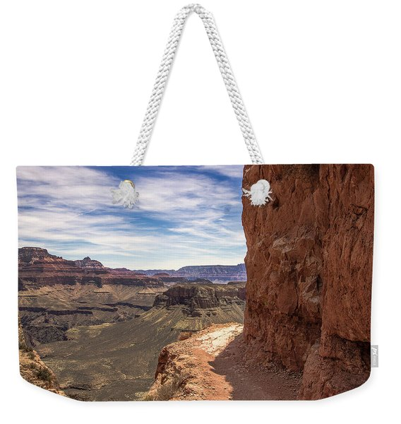Narrow Trail On The South Kaibab Trail, Grand Canyon Weekender Tote Bag