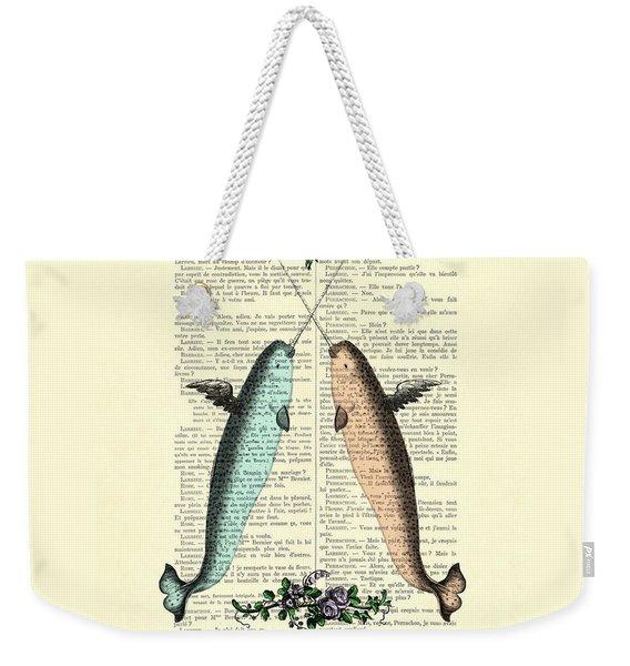 Narwhals In Love Weekender Tote Bag