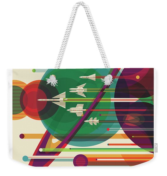 Nasa The Grand Tour Poster Art Visions Of The Future Weekender Tote Bag