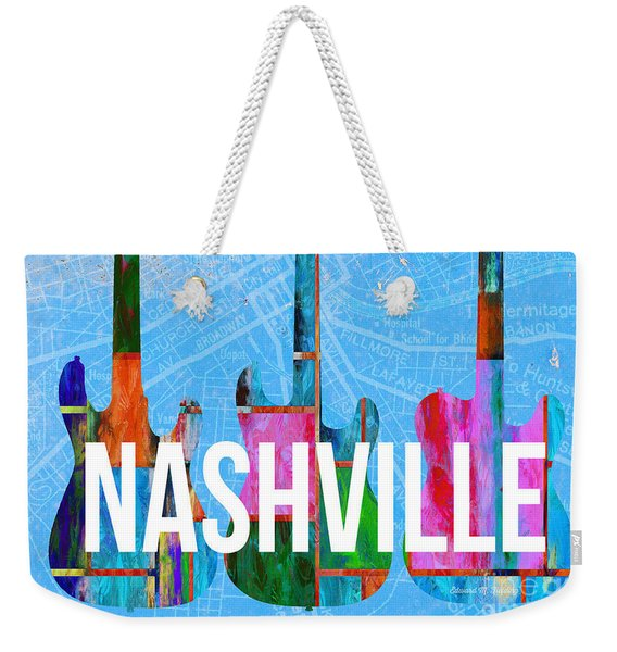 Nashville Guitars Music Scene Weekender Tote Bag
