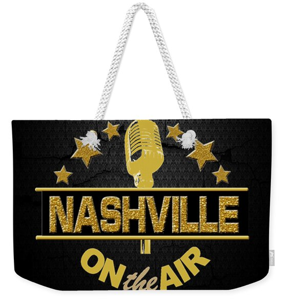 Nashville On The Air Weekender Tote Bag