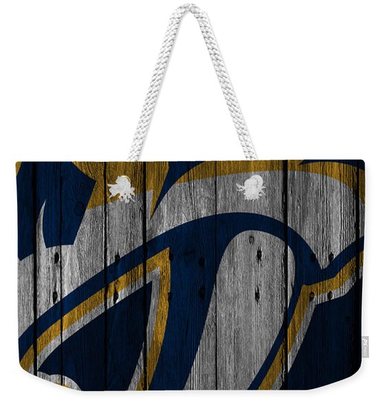 Nashville Predators Wood Fence Weekender Tote Bag