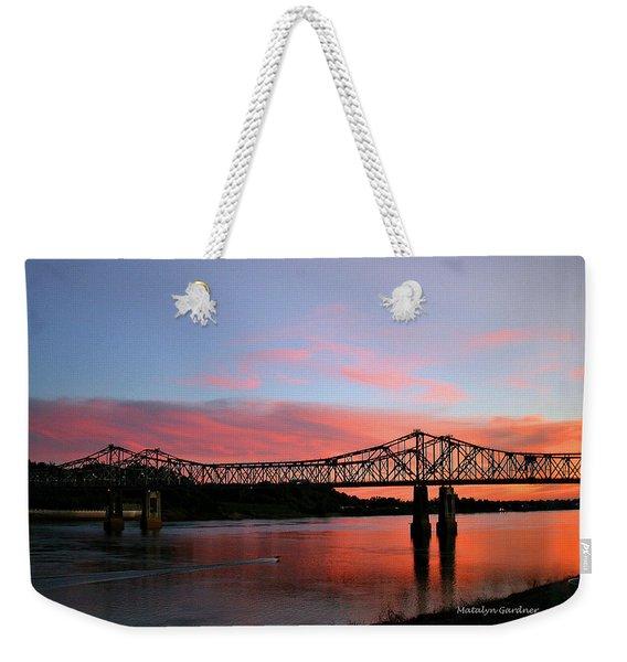 Natchez Sunset Weekender Tote Bag