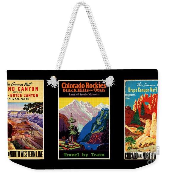 National Parks Posters Weekender Tote Bag