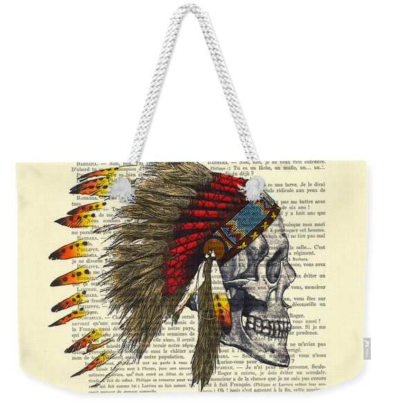 Native American Skull Weekender Tote Bag