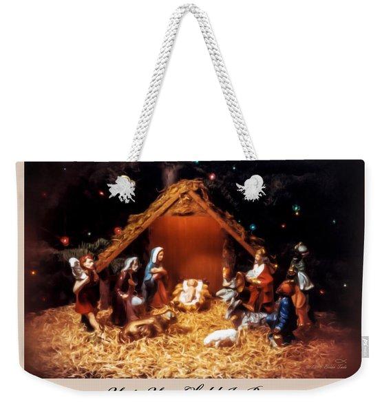 Nativity Scene Greeting Card Weekender Tote Bag