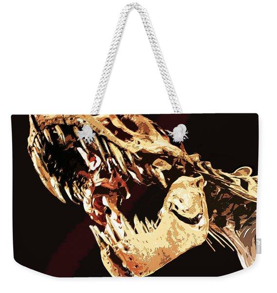 Natural History- T Rex Weekender Tote Bag
