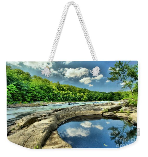 Natural Swimming Pool Weekender Tote Bag