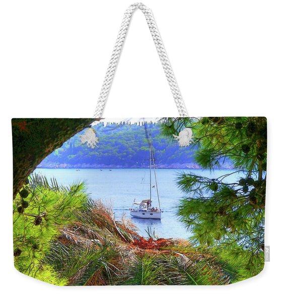 Nature Framed Boat Weekender Tote Bag