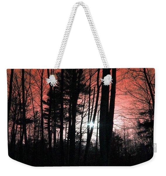 Nature Of Wood Weekender Tote Bag