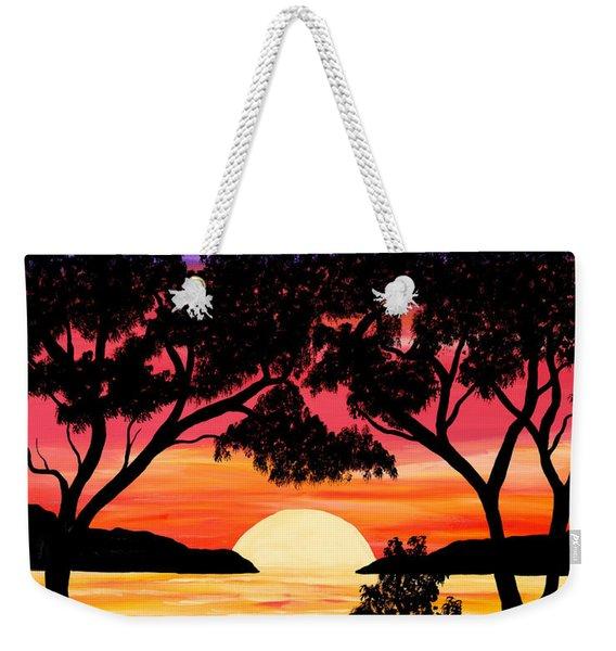 Nature's Gift - Ocean Sunset Weekender Tote Bag