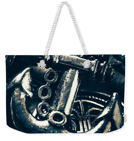 Nautic Blue Weekender Tote Bag