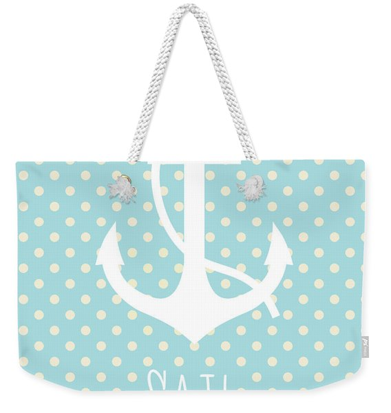 Nautical Anchor Weekender Tote Bag