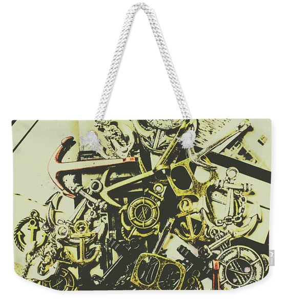 Nautical And Maritime Anchors Weekender Tote Bag
