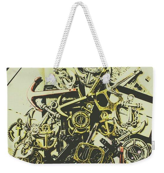 Nautical And Maritime Anchors Weekender Tote Bag
