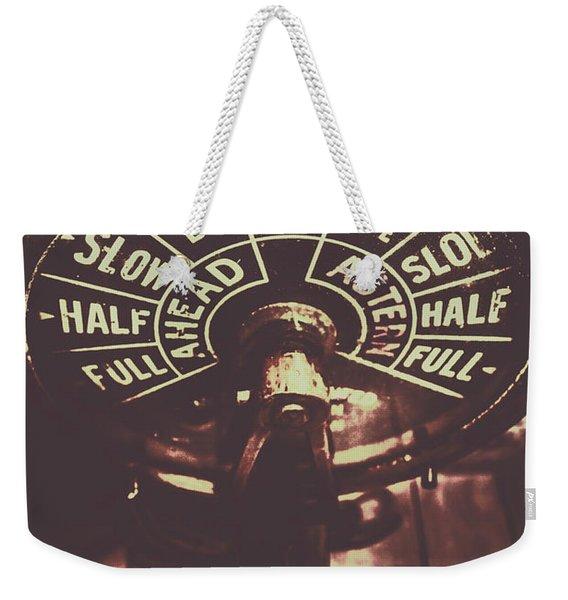 Nautical Engine Room Telegraph Weekender Tote Bag