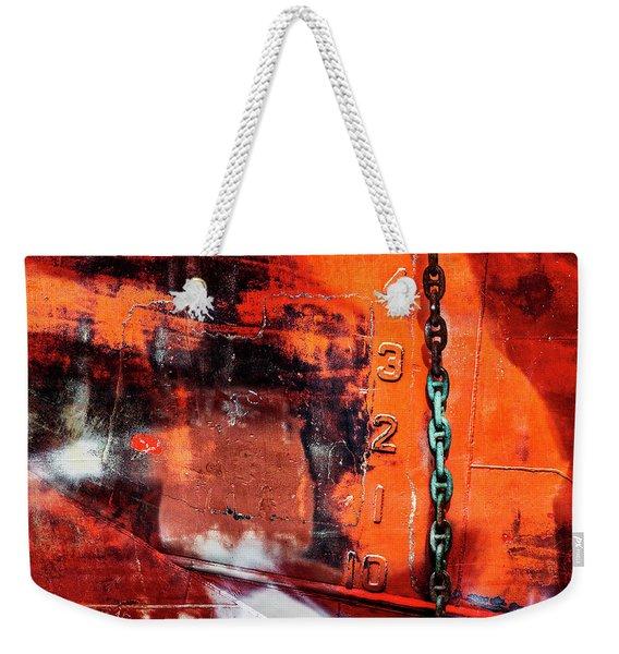 Nautical Industrial Art Again Weekender Tote Bag