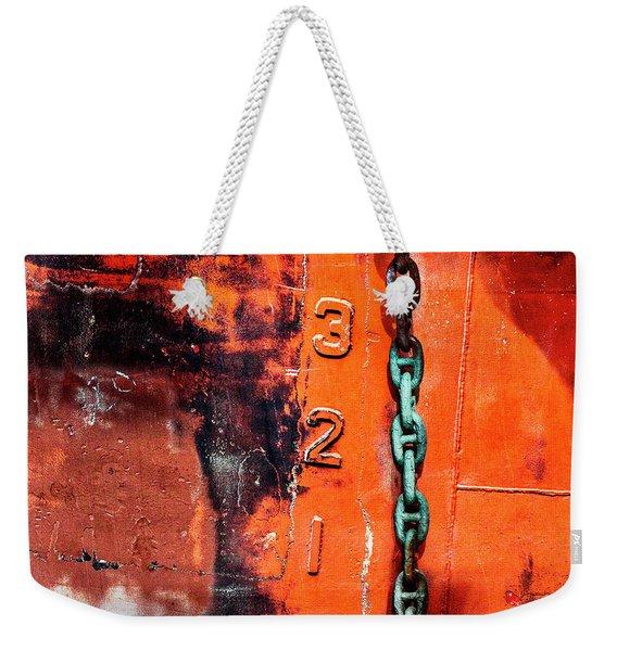 Nautical Industrial Art Again Square Weekender Tote Bag